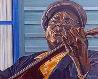 BACKDOOR MAN Huile sur toile. 50 x 61 cm. Collection particulière.