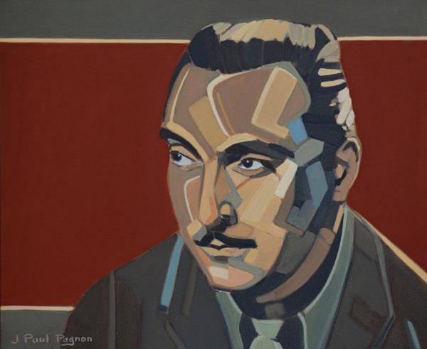 A PORTRAIT OF DJANGO peinture Jean-Paul Pagnon