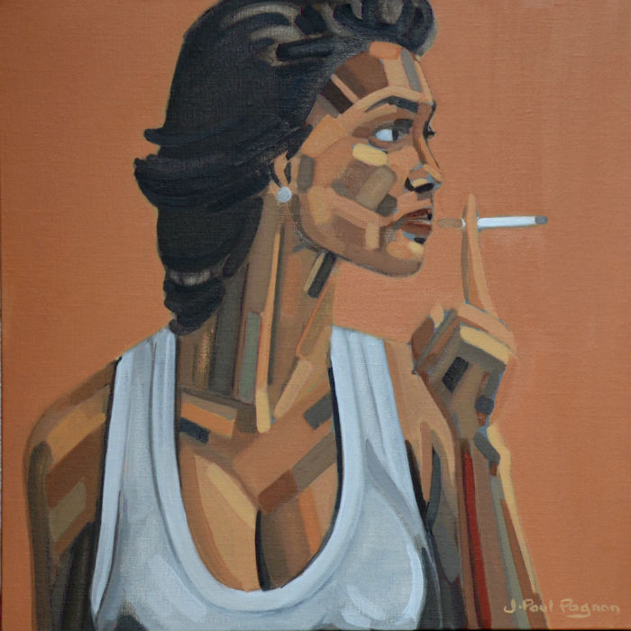 bel air, portrait de femme, peinture jazz blues de jean-paul pagnon