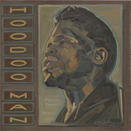 HOODOO MAN Huile sur toile blues