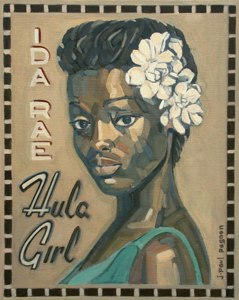 HULA GIRL Peinture Jean-Paul Pagnon