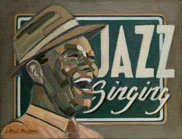 JAZZ SINGING Peinture Jean-Paul Pagnon