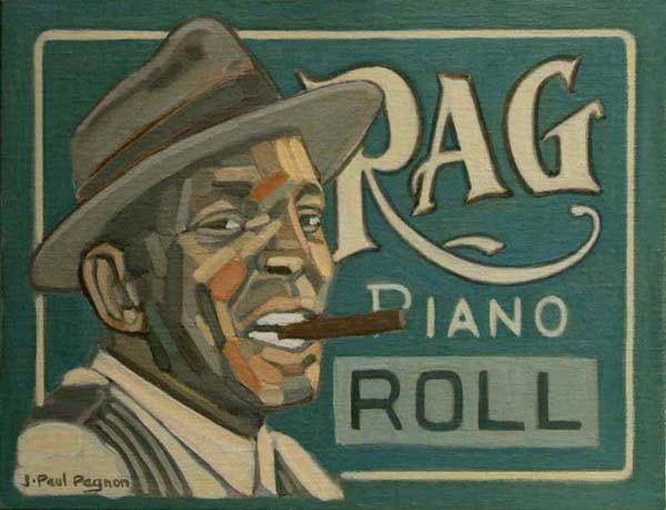 RAG PIANO ROLL peinture Jean-Paul Pagnon